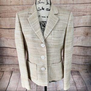 Michael Kors Shimmering Beige Blazer Jacket Size 8